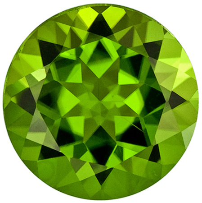 Hard to Find Peridot Loose Gem, 11 mm, Medium Rich Green, Round Cut, 5.25 carats