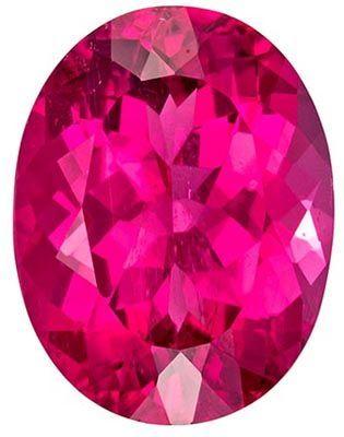 Hard to Find Rubellite Tourmaline Genuine Gem in Oval Cut, 4.32 carats, Fuchsia Pink, 11.8 x 9.1 mm
