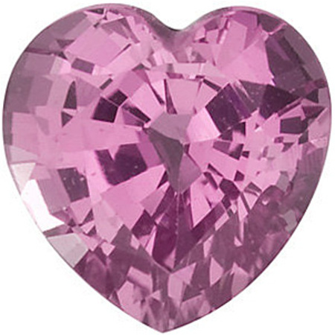 Heart Cut Genuine Pink Sapphire in Grade AA - SOLD