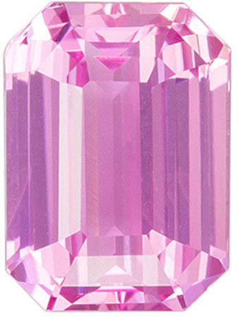 So Chic Baby Pink Sapphire Ring Stone Sapphire in Classic Emerald Cut in 1.54 carats , 7 x 5.1 mm