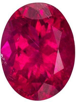 Highly Requested Rubellite Tourmaline Genuine Gem in Oval Cut, Vivid Rich Fuchsia, 9.1 x 7 mm, 1.89 carats