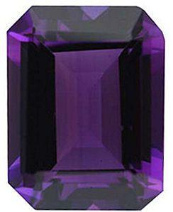 Imitation Amethyst Emerald Cut Stones