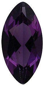 Imitation Amethyst Marquise Cut Stones