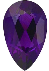 Imitation Amethyst Pear Cut Stones