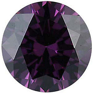 Imitation Amethyst Round Cut Stones