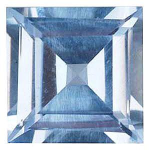Imitation Aquamarine Square Cut Stones