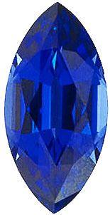 Imitation Blue Sapphire Marquise Cut Stones