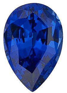 Imitation Blue Sapphire Pear Cut Stones