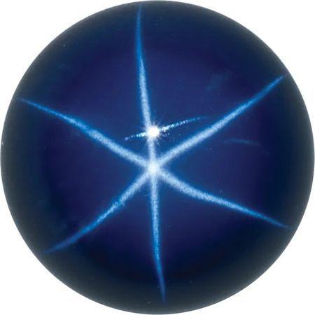Imitation Blue Star Sapphire Round Cut Stones