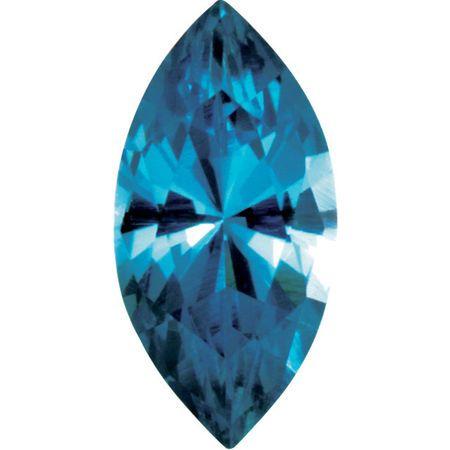 Imitation Blue Zircon Marquise Cut Stones