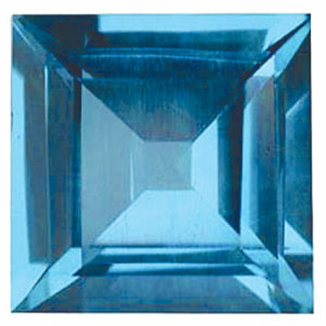 Imitation Blue Zircon Square Cut Stones