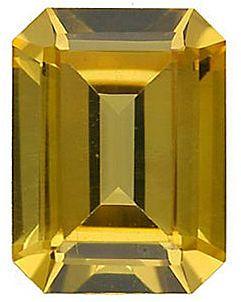Imitation Citrine Emerald Cut Stones