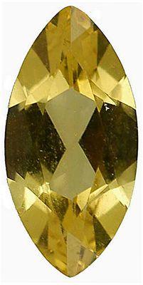 Imitation Citrine Marquise Cut Stones