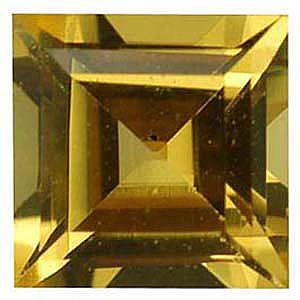 Imitation Citrine Square Cut Stones
