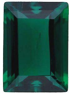 Imitation Emerald Cushion Cut Stones