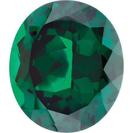 Imitation Emerald Oval Cut Stones