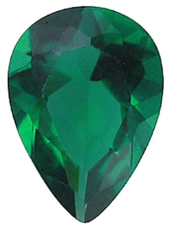 Imitation Emerald Pear Cut Stones