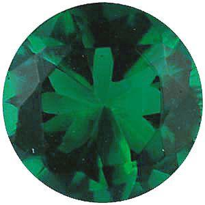 Imitation Emerald Round Cut Stones