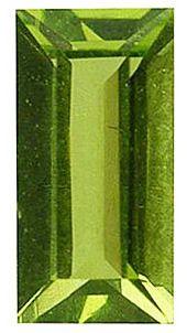 Imitation Peridot Baguette Cut Stones