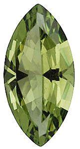 Imitation Peridot Marquise Cut Stones