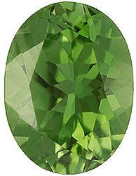 Imitation Peridot Oval Cut Stones
