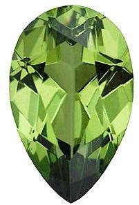 Imitation Peridot Pear Cut Stones