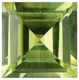 Imitation Peridot Square Cut Stones