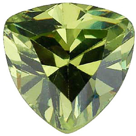 Imitation Peridot Trillion Cut Stones