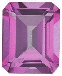 Imitation Pink Tourmaline Emerald Cut Stones