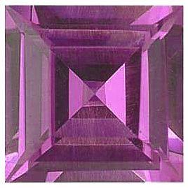 Imitation Pink Tourmaline Princess Cut Stones