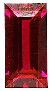 Imitation Red Garnet Baguette Cut Stones
