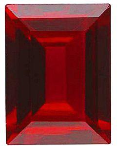 Imitation Red Garnet Cushion Cut Stones