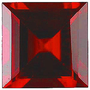 Imitation Red Garnet Square Cut Stones