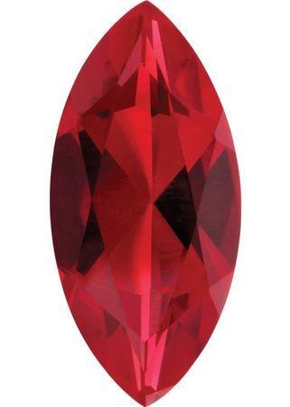 Imitation Ruby Marquise Cut Stones