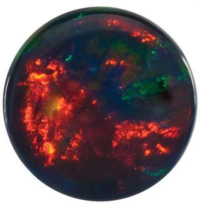 Gilson Created Black Opal Round Cut in Grade GEM