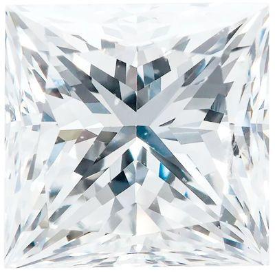 F+ Color - VS Clarity Lab Grown Princess Diamonds
