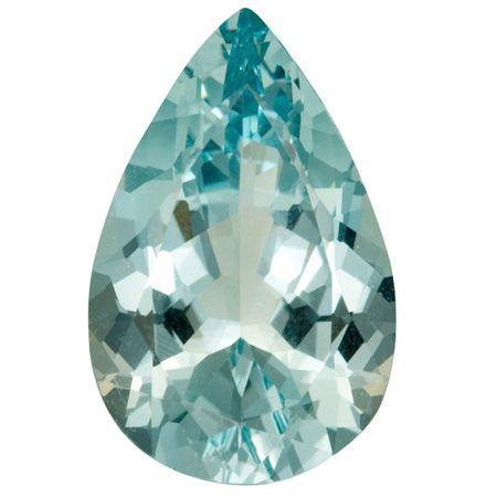 Loose Aquamarine Gemstone in Pear Cut, 15.4 carats, 22.82 x 14.87 mm , Rare No Heat Aqua