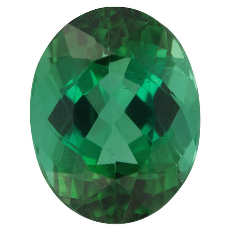 Loose Blue Green Tourmaline Gemstone in Oval Cut, 3.61 carats, 10.52 x 8.20 mm Displays Pure Blue-Green Color