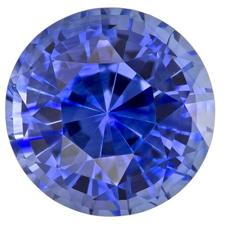 Loose Blue Sapphire Gemstone, Round Cut, 1.41 carats, 6.3 mm , AfricaGems Certified - A Low Price