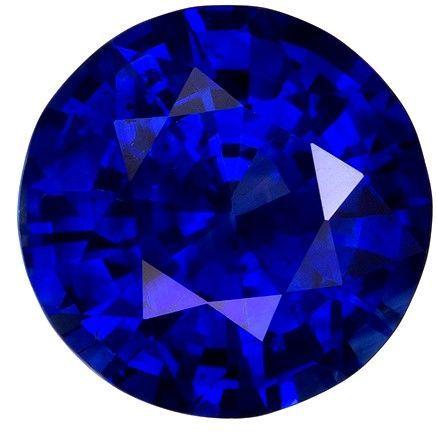 Loose Blue Sapphire Gemstone, Round Cut, 2.61 carats, 8.52 x 8.59 x 4.88 mm , GIA Certified - A Fine Gem