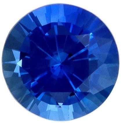 Loose Genuine Blue Sapphire Gemstone, 0.32 carats, Round Shape, 4.1 mm, A Beauty of A Gem