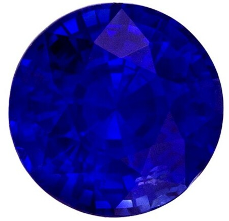 Loose Genuine Blue Sapphire Gemstone, 1.6 carats, Round Shape, 6.7 mm, A Natural Wonder