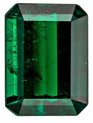 Loose Genuine Emerald Gemstone, 1.4 carats, Emerald Shape, 8.3 x 6.1 mm, A Natural Wonder