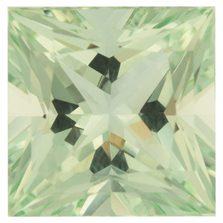 Loose Green Beryl Gemstone in Princess Cut, 27.14 carats, 18.24 x 18.08 mm Displays Vivid Green Color