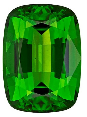 Loose Chrome Tourmaline Gemstone, Cushion Cut, 3.81 carats, 11.3 x 8.1 mm , AfricaGems Certified - A Magnificent Gem