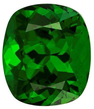 Loose Chrome Tourmaline Gemstone, Cushion Cut, 1.78 carats, 7.8 x 6.8 mm , AfricaGems Certified - Truly Stunning