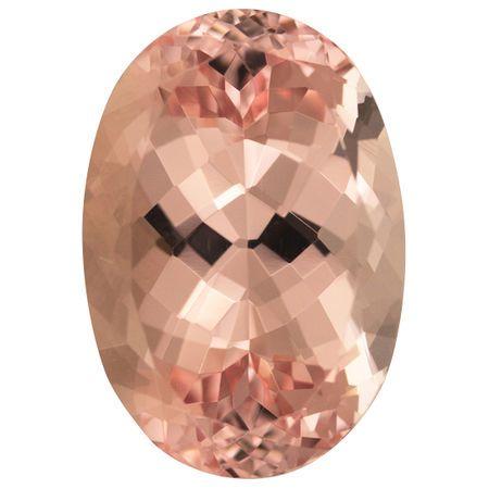 Special Huge Morganite Gemstone in Oval Cut, 31.29 carats, 27 x 16.90 mm Displays Vivid Pink Peach Color