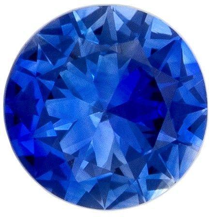 Loose Natural  Blue Sapphire Gemstone, 0.24 carats, Round Shape, 3.8 mm, Unique Beauty