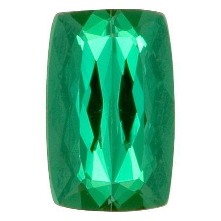 Loose Brazilian Paraiba Tourmaline Gem in Antique Cushion Cut, 2.60 carats, 10 x 6.42 x 4.77 mm Displays Icy Deep Green Color - AGL Cert