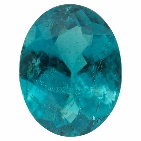 Brazilian Paraiba Tourmaline Gemstone in Oval Cut, 1.05 carats, 8.0 x 6.32 x 3.42 mm Displays Deep Peacock Blue Color - AGL Cert